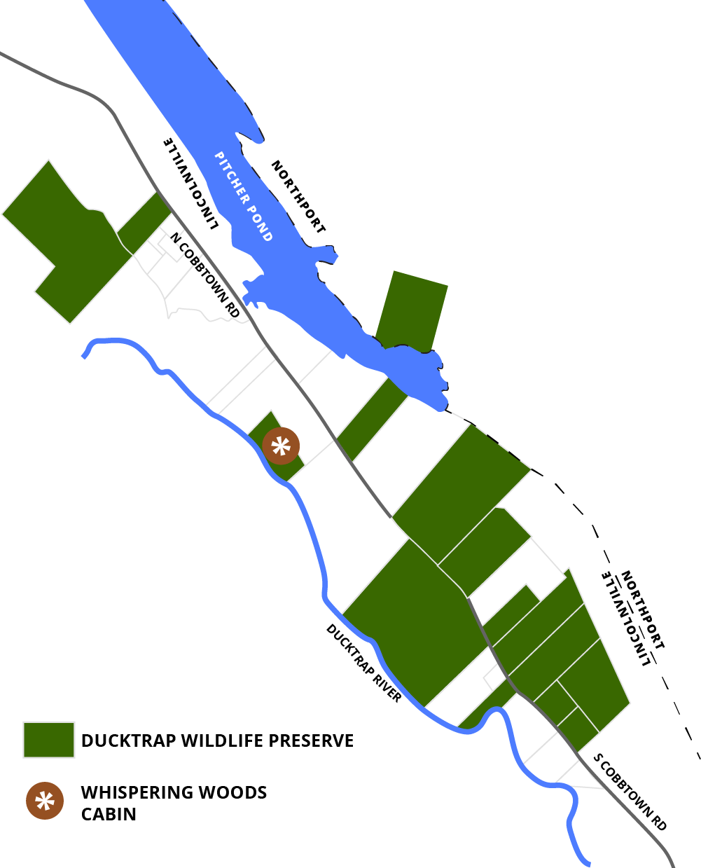 Ducktrap Wildlife Preserve Map